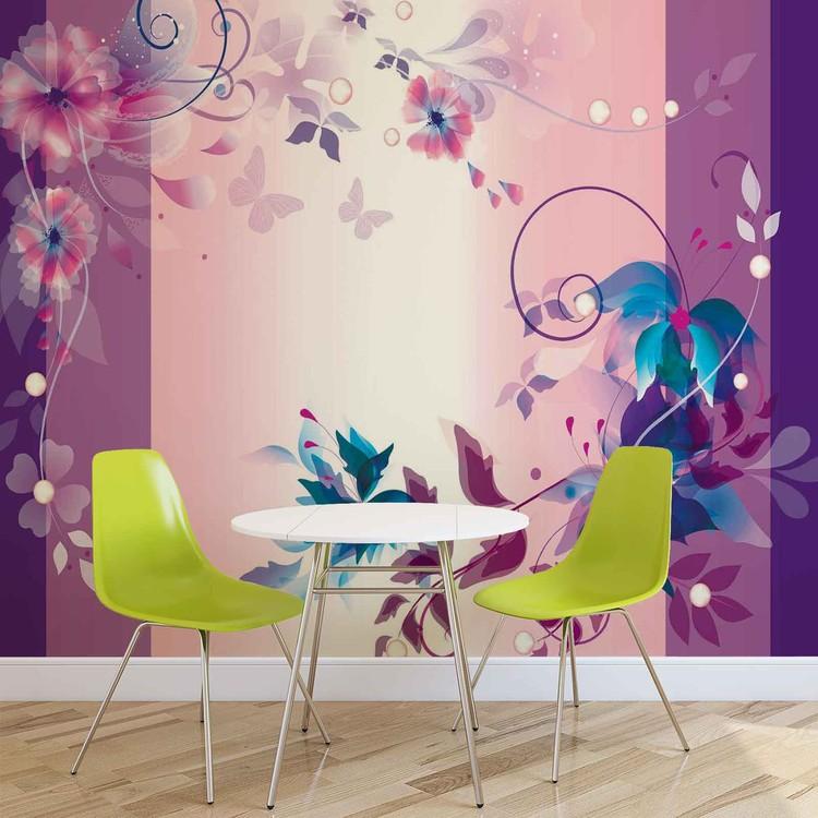 art floral poster mural papier peint acheter le sur. Black Bedroom Furniture Sets. Home Design Ideas