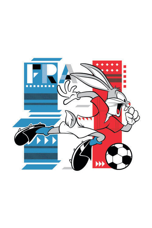 Bunny and football Poster Mural XXL