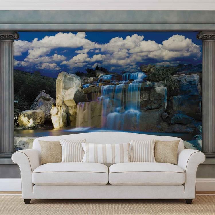 cascade poster mural papier peint acheter le sur. Black Bedroom Furniture Sets. Home Design Ideas