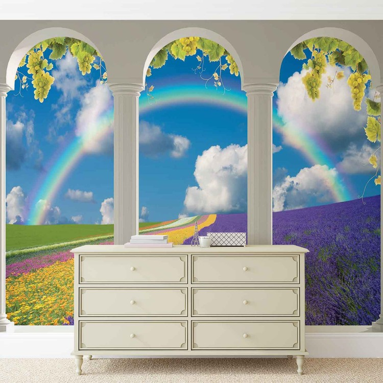 champ de lavande nature arches poster mural papier peint acheter le sur. Black Bedroom Furniture Sets. Home Design Ideas