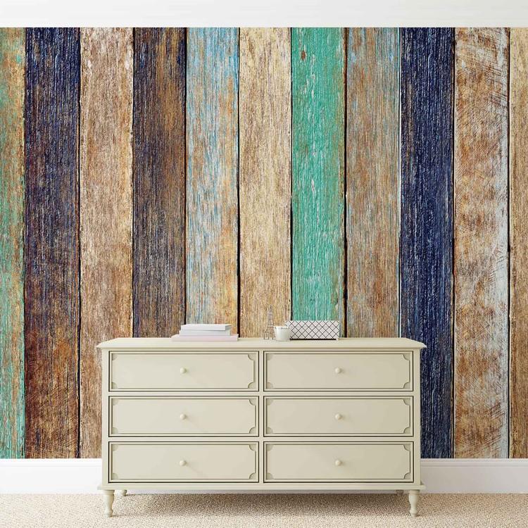 cl ture planche en bois poster mural papier peint acheter le sur. Black Bedroom Furniture Sets. Home Design Ideas