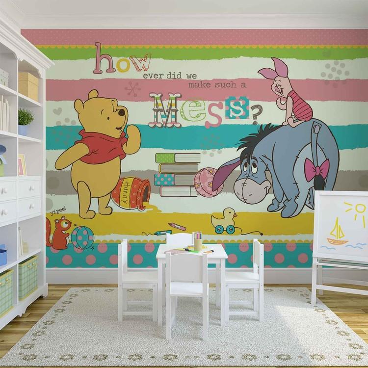 Disney Winnie L Ourson Bourriquet Porcinet Poster Mural Papier