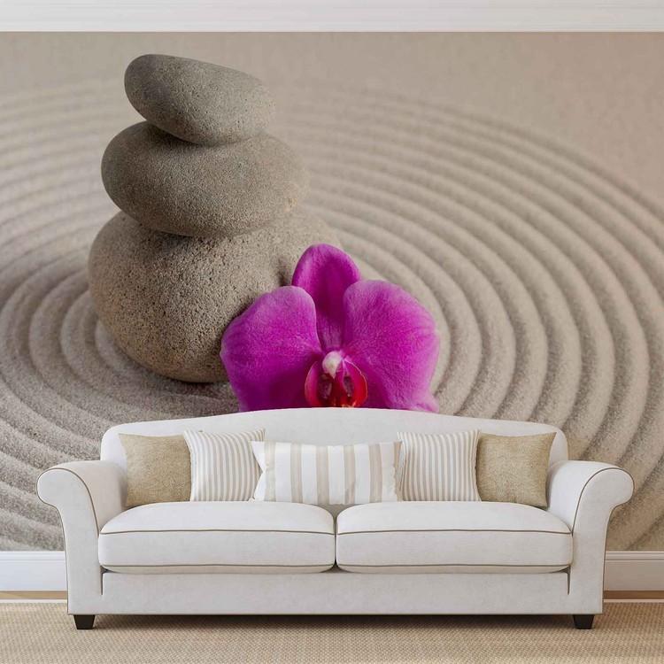 fleur de jardin zen poster mural papier peint acheter le sur. Black Bedroom Furniture Sets. Home Design Ideas