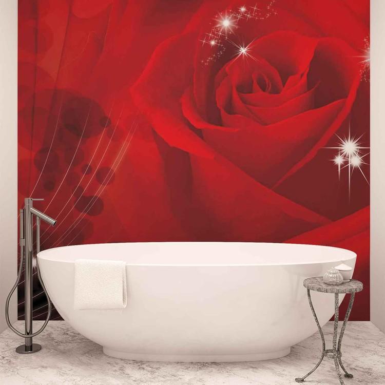 Fleur Rose Rouge Poster Mural Papier Peint Acheter Le Sur