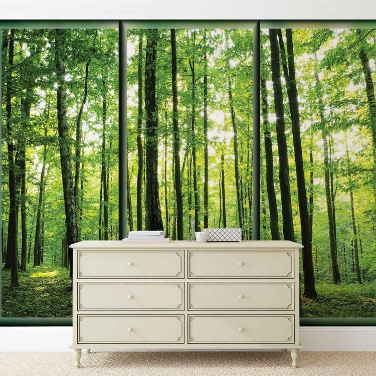 for t arbres vert nature poster mural papier peint acheter le sur. Black Bedroom Furniture Sets. Home Design Ideas