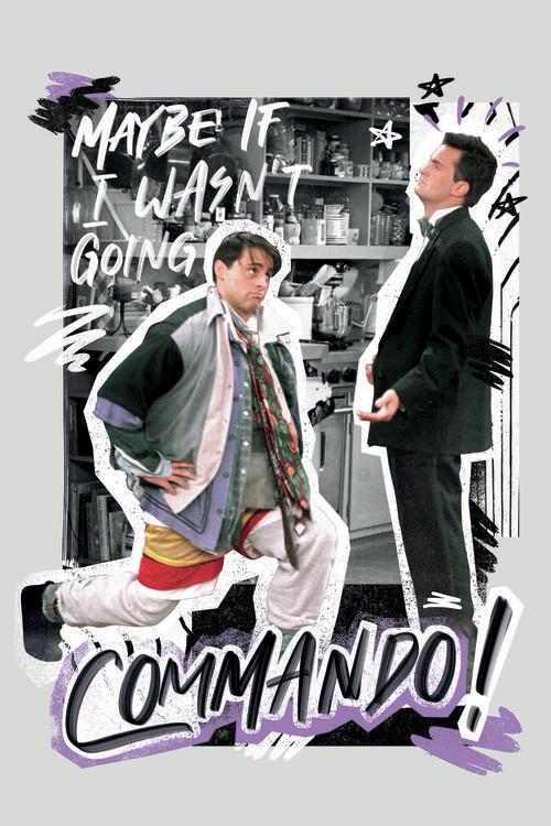 Friends - Commando! Poster Mural XXL