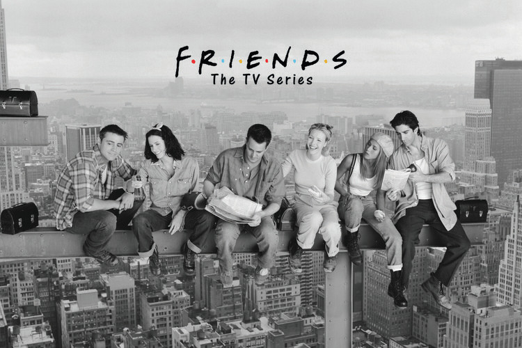 Friends - Déjeuner au sommet d'un gratte-ciel Poster Mural XXL
