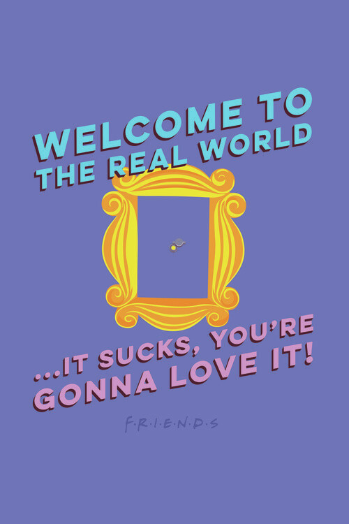 Friends - Welcome to the real world Poster Mural XXL
