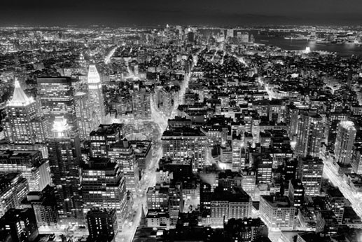FROM THE EMPIRE STATE BUILDING - south view Poster Mural XXL