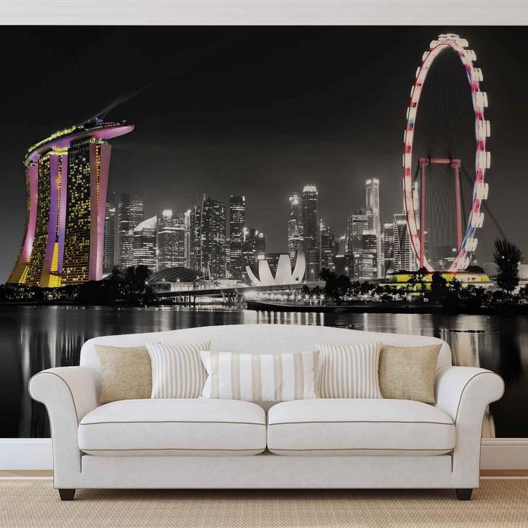 horizon de singapour poster mural papier peint acheter. Black Bedroom Furniture Sets. Home Design Ideas