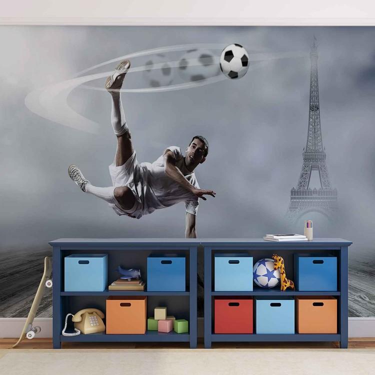 Joueur de football paris poster mural papier peint - Poster xxl paris ...