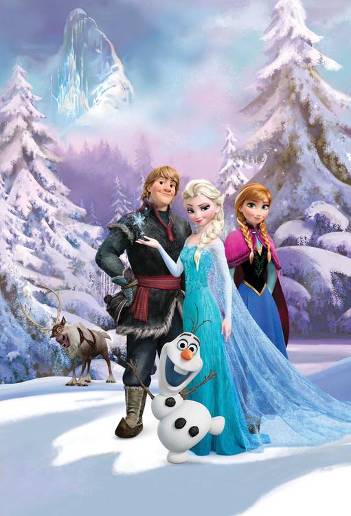 La reine des neiges group poster mural papier peint acheter le sur - Papier peint reine des neiges ...