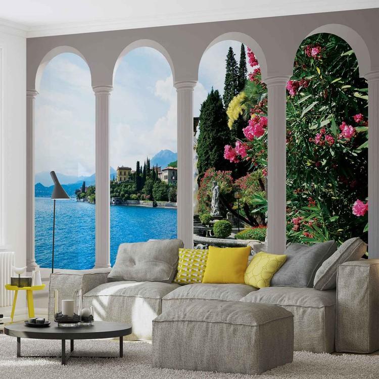 Lac de Comes en  Italie Arches Poster Mural XXL