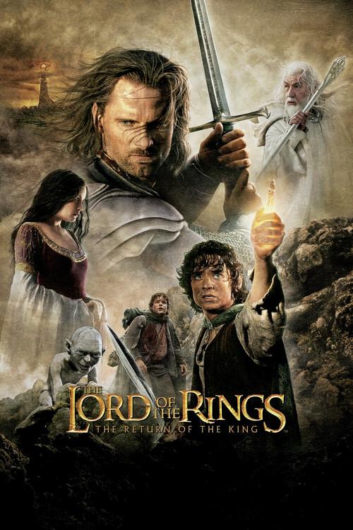 Le Seigneur des Anneaux - Le retour du roi Poster Mural XXL