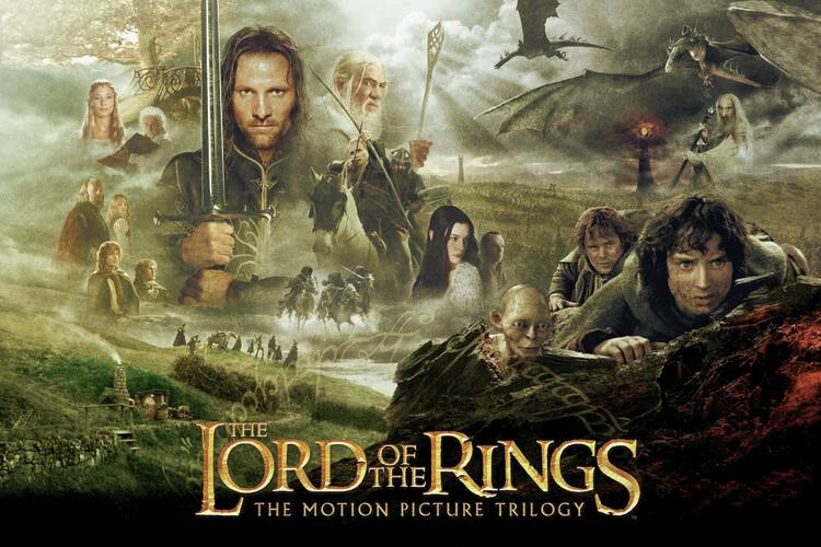 Le Seigneur des Anneaux - Trilogie Poster Mural XXL