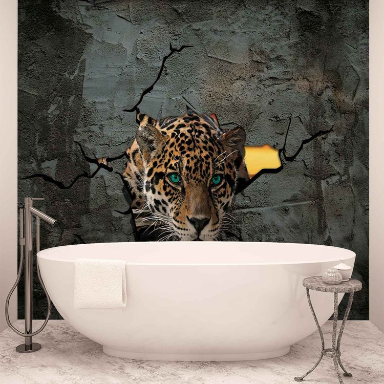 leopard 3d poster mural papier peint acheter le sur. Black Bedroom Furniture Sets. Home Design Ideas