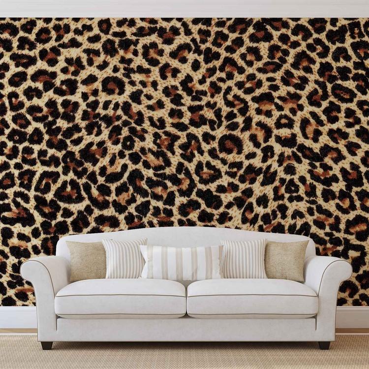 Leopard skin: custom animal wallpaper concept