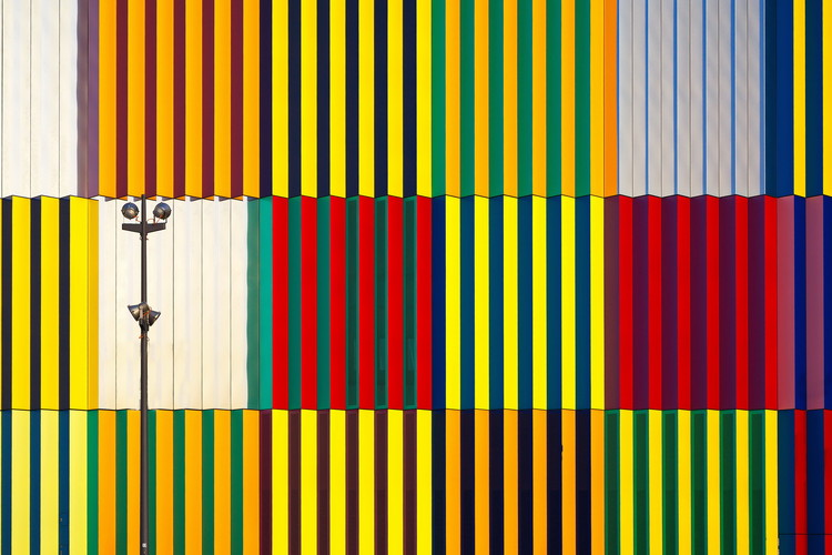 light and coloured verticals Poster Mural XXL