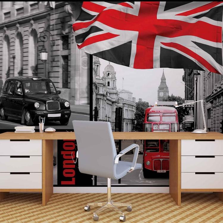 londres poster mural papier peint acheter le sur. Black Bedroom Furniture Sets. Home Design Ideas