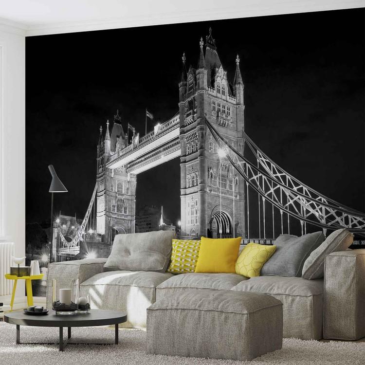 londres tower bridge poster mural papier peint acheter le sur. Black Bedroom Furniture Sets. Home Design Ideas