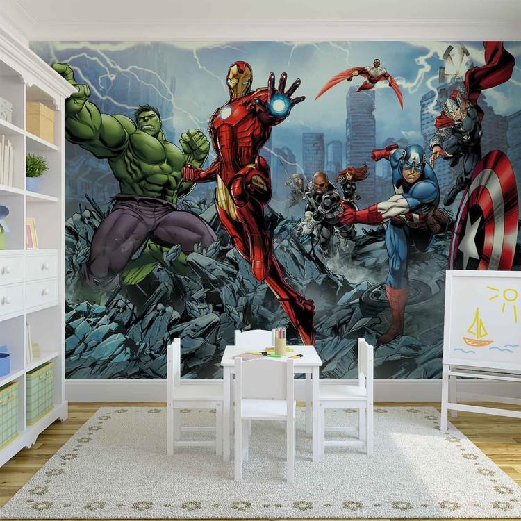 marvel avengers poster mural papier peint acheter le. Black Bedroom Furniture Sets. Home Design Ideas