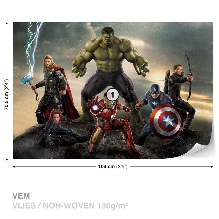 Marvel Avengers Battle Poster Mural Papier Peint Acheter Le Sur