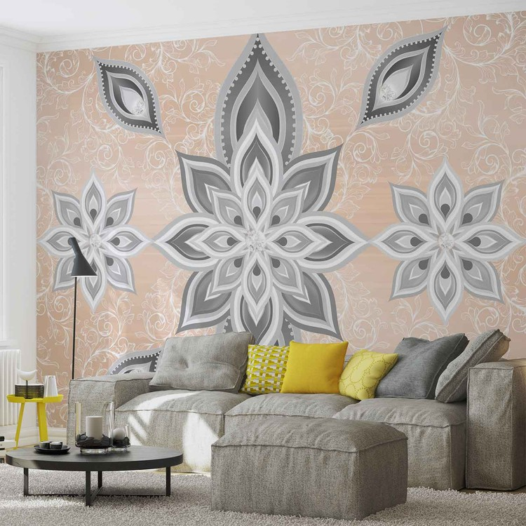 motif abstrait argent et dor poster mural papier peint acheter le sur. Black Bedroom Furniture Sets. Home Design Ideas