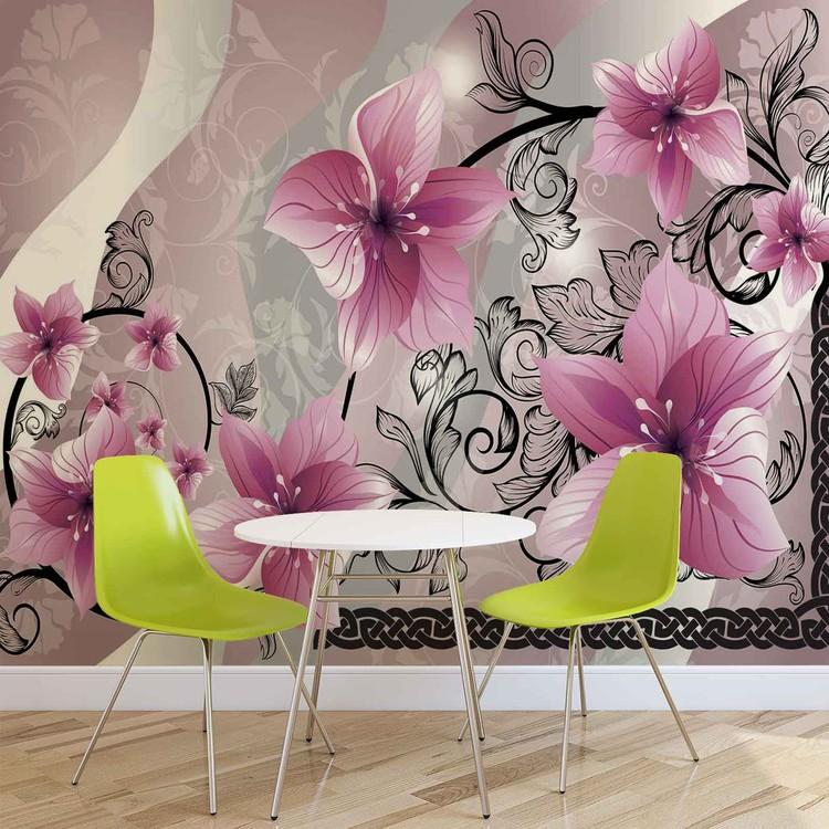 Motif floral de fleurs Poster Mural XXL