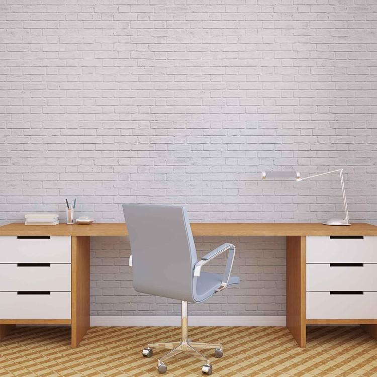 mur de brique blanc poster mural papier peint acheter le sur. Black Bedroom Furniture Sets. Home Design Ideas
