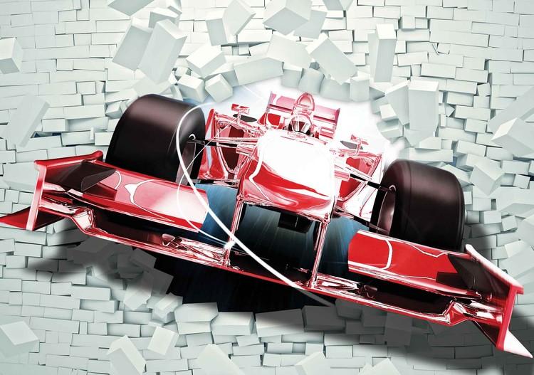 mur de brique formule 1 voiture de course poster mural papier peint acheter le sur. Black Bedroom Furniture Sets. Home Design Ideas