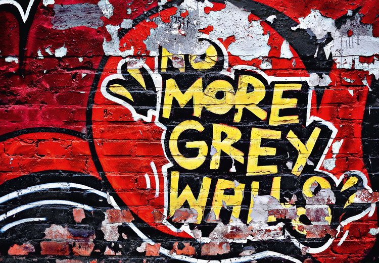 NO MORE GREY WALLS Poster Mural XXL