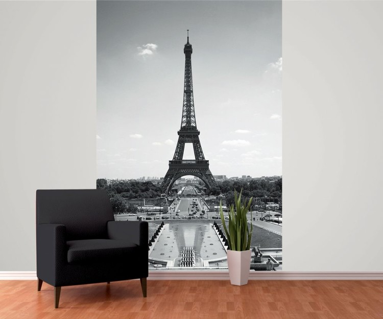 paris la tour eiffel poster mural papier peint acheter le sur. Black Bedroom Furniture Sets. Home Design Ideas