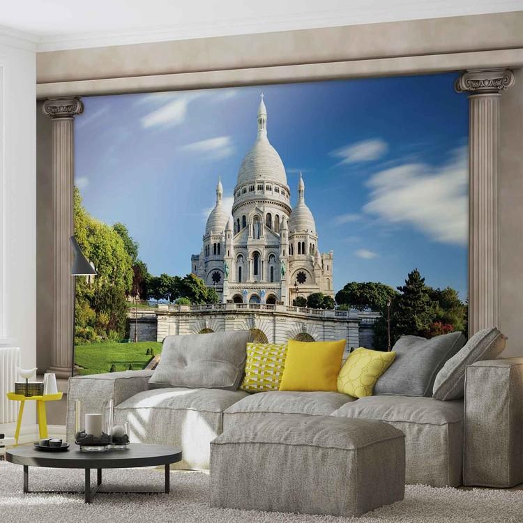 Paris sacre c ur vue de fen tre poster mural papier peint - Poster xxl paris ...