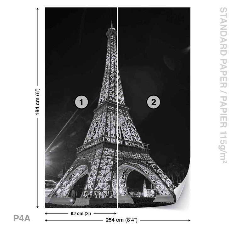 paris tour eiffel poster mural papier peint acheter le sur. Black Bedroom Furniture Sets. Home Design Ideas