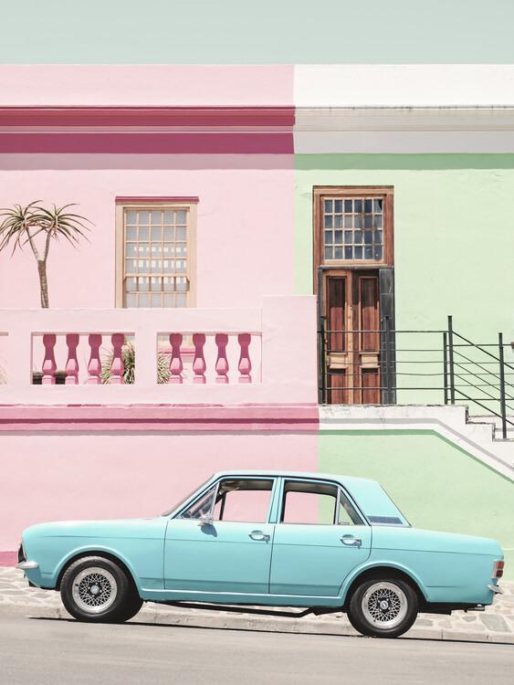 Pastel Vintage Car Poster Mural XXL