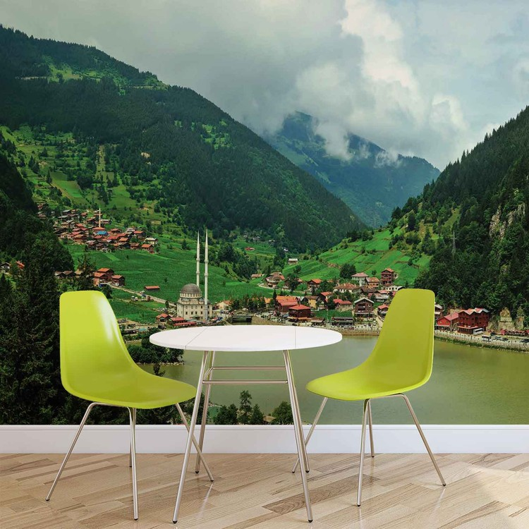 paysage poster mural papier peint acheter le sur. Black Bedroom Furniture Sets. Home Design Ideas