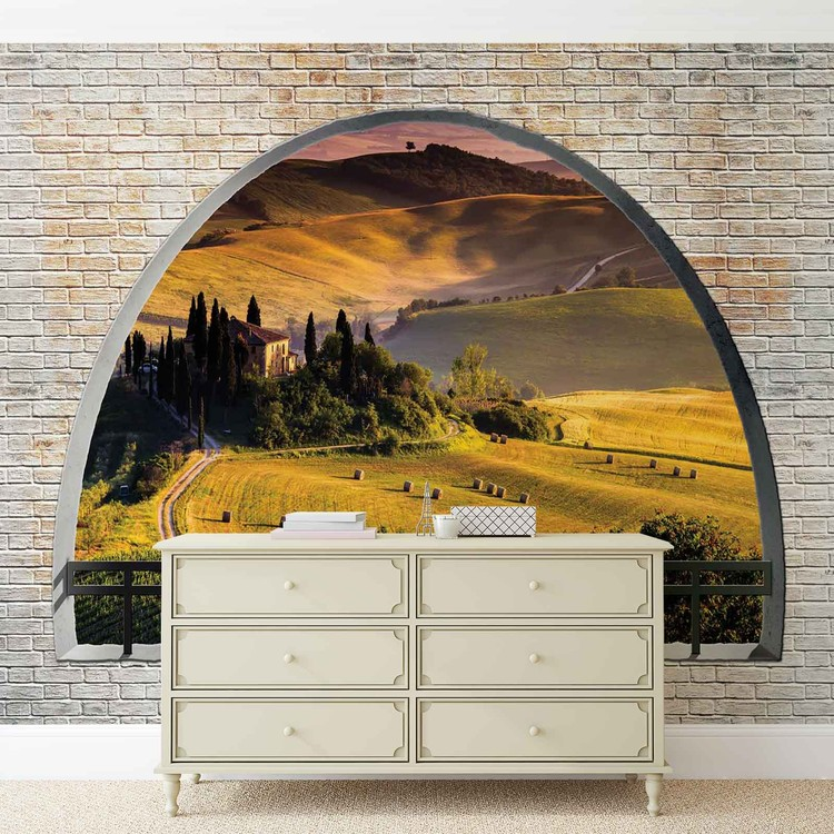 paysage nature arche vue poster mural papier peint acheter le sur. Black Bedroom Furniture Sets. Home Design Ideas