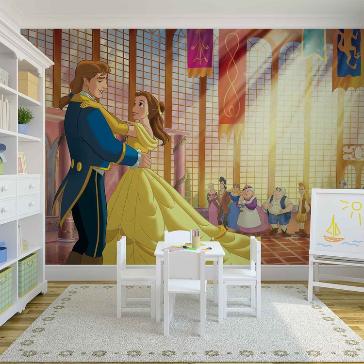 Princesses Disney La Belle et la Bête Poster Mural XXL