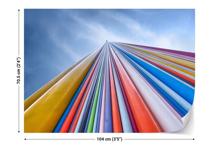 Rainbow From A Cloud Poster Mural XXL