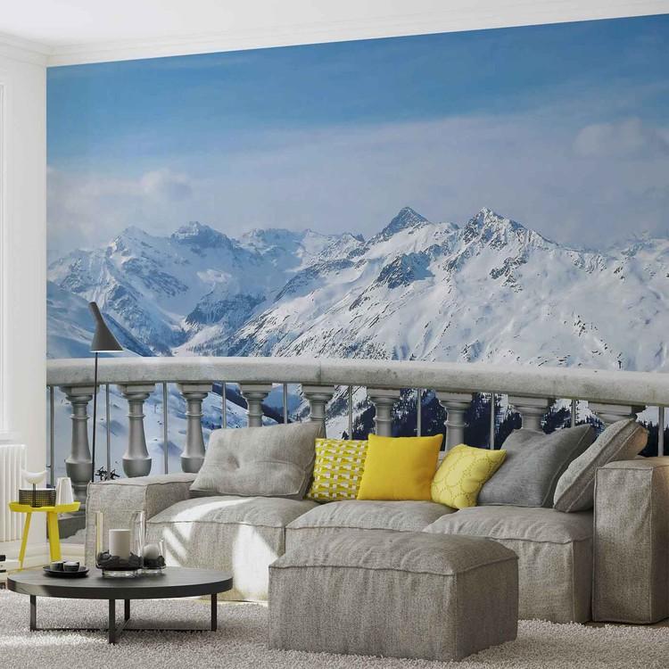 sc ne de montagne poster mural papier peint acheter le sur. Black Bedroom Furniture Sets. Home Design Ideas