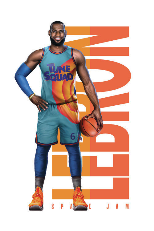Space Jam 2 - LeBron text Poster Mural XXL