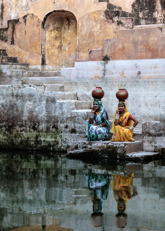 Stepwell Reflections Poster Mural XXL
