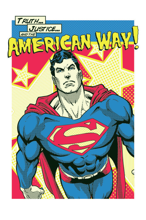 Superman - American Way Poster Mural XXL