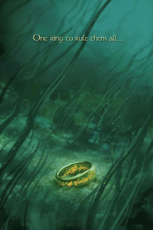 The Lord of the Rings - One ring to rule them all Poster Mural XXL