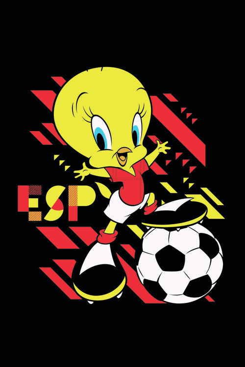 Tweety and football Poster Mural XXL