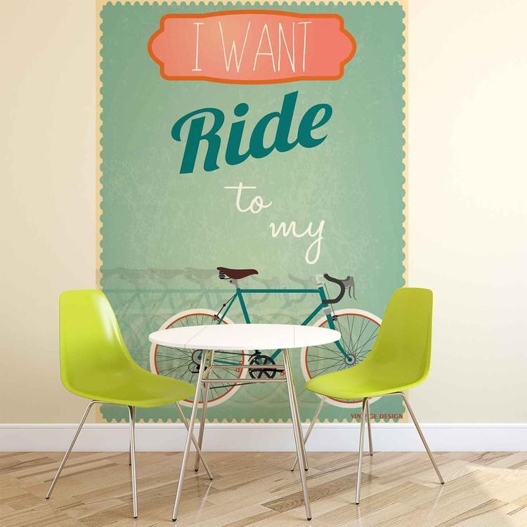 v lo de course r tro poster mural papier peint acheter le sur. Black Bedroom Furniture Sets. Home Design Ideas