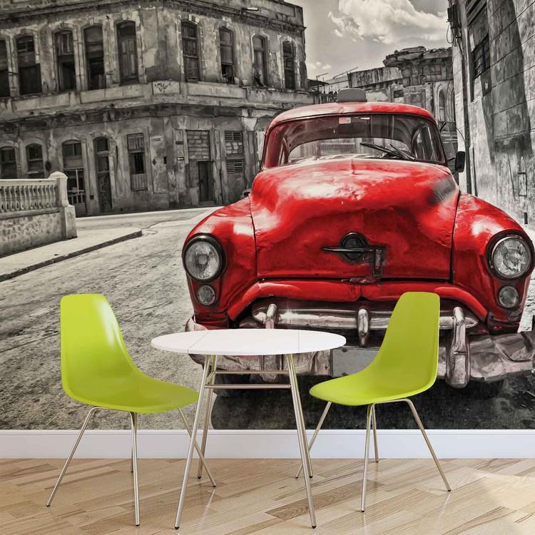 voiture ancienne poster mural papier peint acheter le. Black Bedroom Furniture Sets. Home Design Ideas