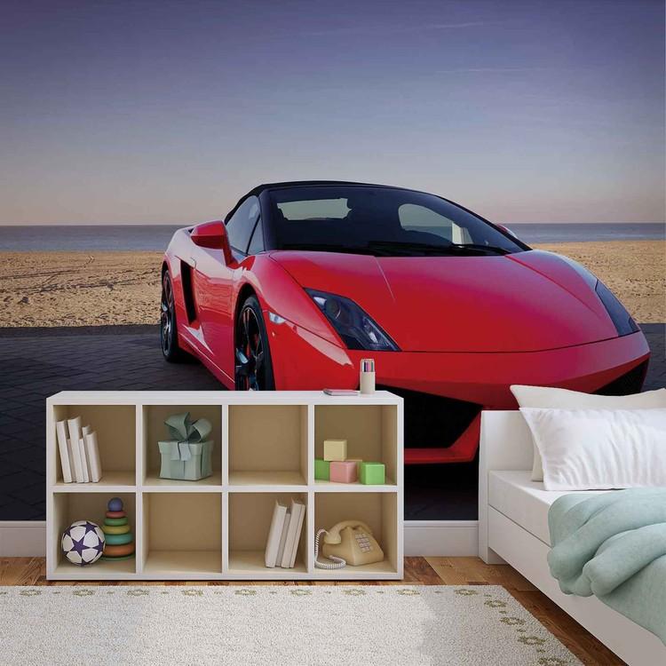 voiture de sport poster mural papier peint acheter le sur. Black Bedroom Furniture Sets. Home Design Ideas