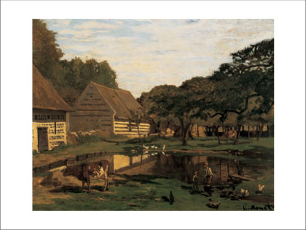 A Farmyard In Normandy Kunstdruck