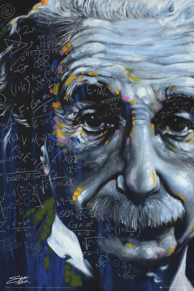 Poster Albert Einstein - It's All Relative, Fishwick